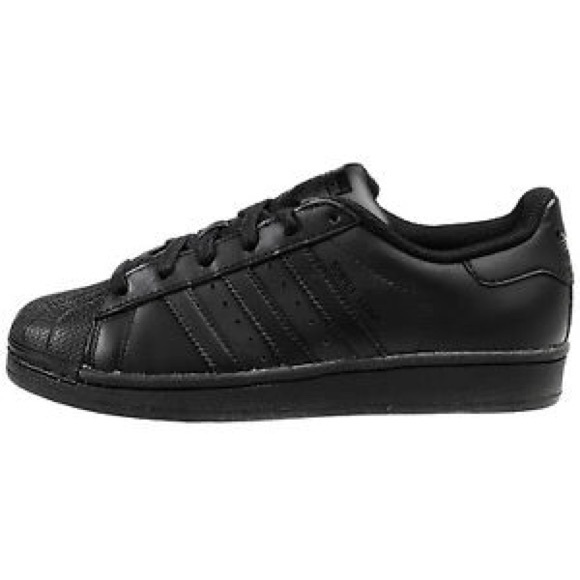 Adidas Superstar Shoes (Black) Size 4 (Youth)